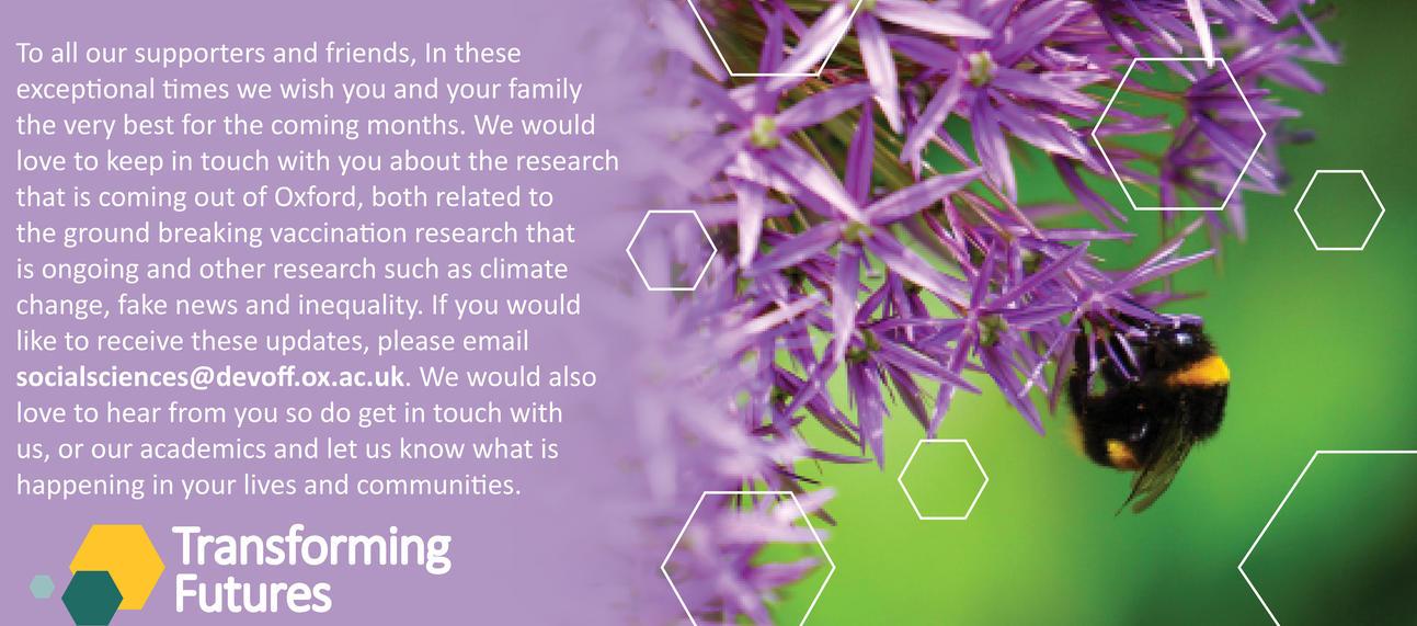 Transforming Futures - Spring message