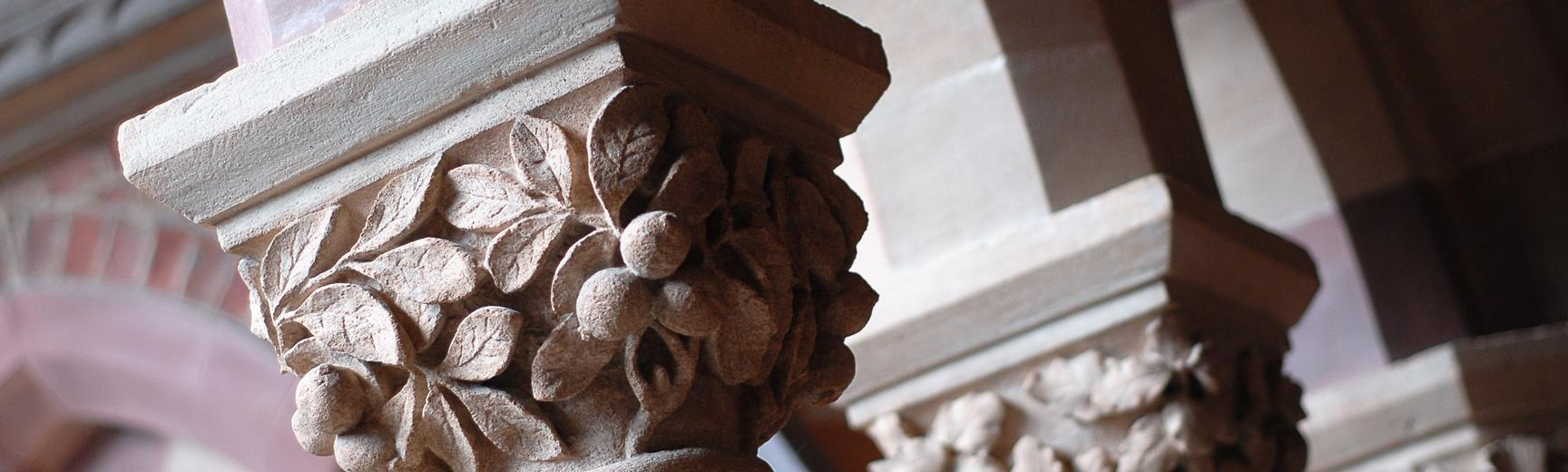 rd stone carved pillars