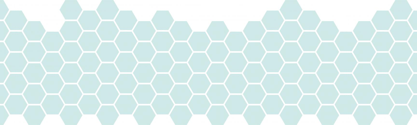 light blue hexagon pattern
