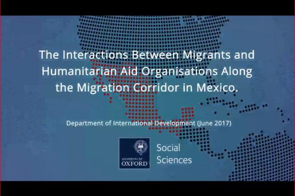interactions between migrants and humanitarian aid organisations along the migration corridor in mexico