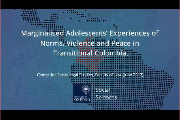 marginalised adolescents experiences of norms violence and pease in transitional colombia