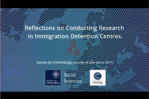 reflections on conducting research in immigration detention centres