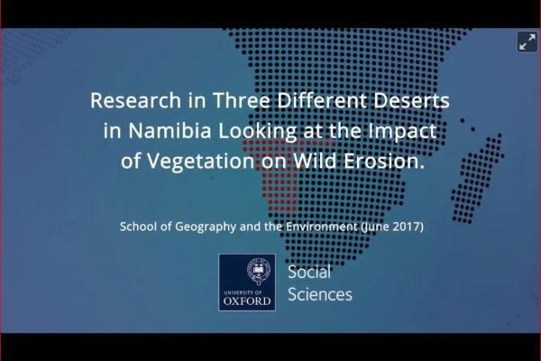 three different deserts in namibia looking at the impact of vegetation on wild erosion