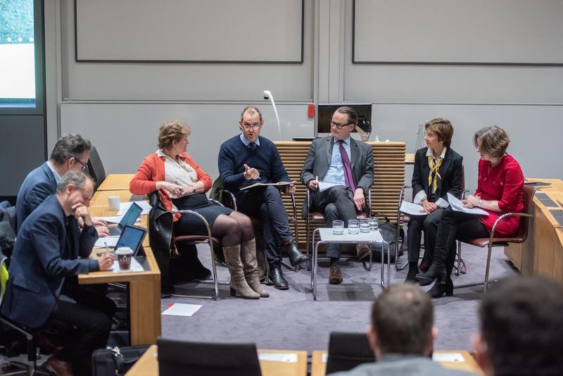The panel talks at the ISCF event