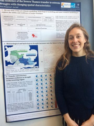 DPhil student Anna Murgatroyd present her research poster
