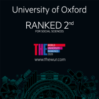 University of Oxford ranked 2nd for social sciences Times Higher Education