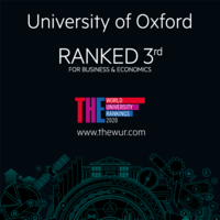 University of Oxford ranked 3rd for business and economics Times Higher Education